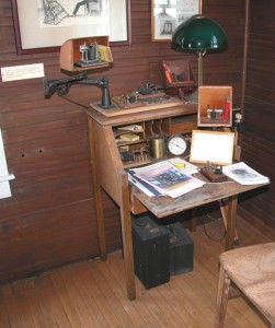 The building also included a telegraph station to relay wireless messages.