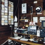 Active amateur radio station located on the first floor of the Massie building. The radio at the top left is a Swedish marine emergency quenched gap spark transmitter. In Scandanavia these spark rigs were legal into the nineteen sixties.