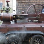 Jim Paquette demonstrates his steam engine