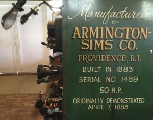 Armington & Sims 1883 placard