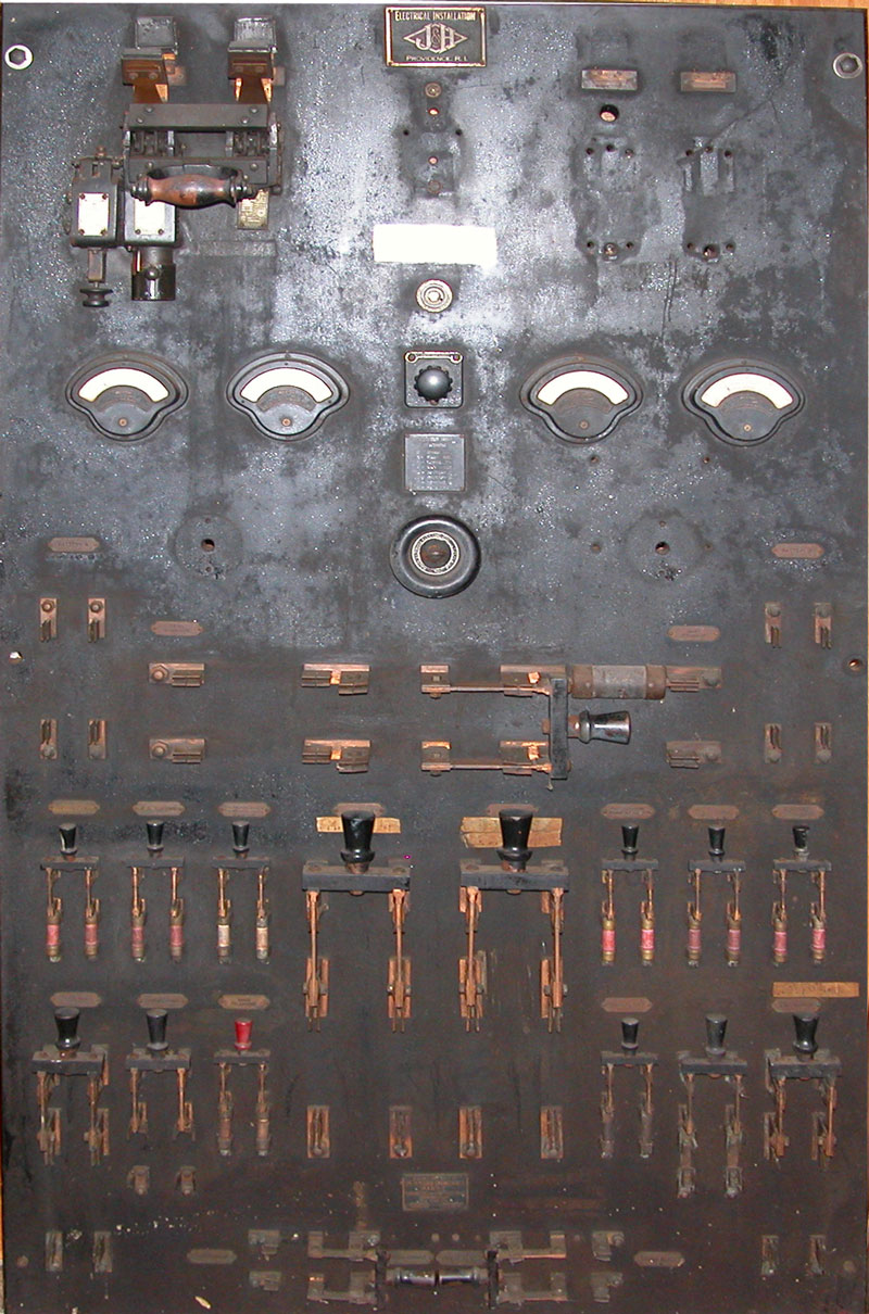 dc electric switchboard from tug gaspee  u2013 new england