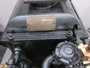 Shipman Boston Model engine & boiler nameplate