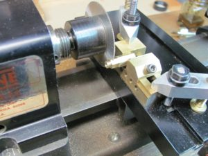 Mill vise on lathe