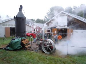 The recently re-tubed Lookout boiler supplied the steam for everything.