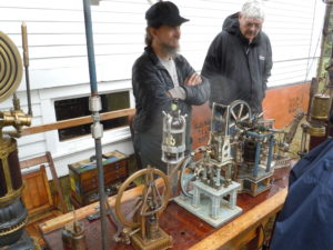 Todd Cahill from Steamachine Sculpture demonstrated his beautiful models.