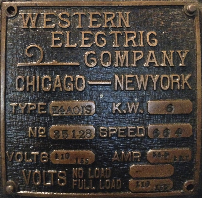 Western Electric Generator New England Wireless Amp Steam